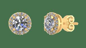 Smykker guld ørestik roset